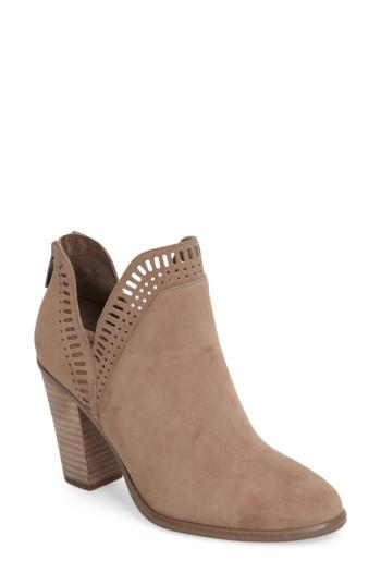 Vince Camuto Fileana Split Shaft Bootie In French Taupe Suede