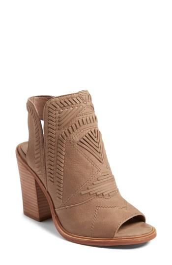 Vince Camuto Karinta Block Heel Bootie In French Taupe