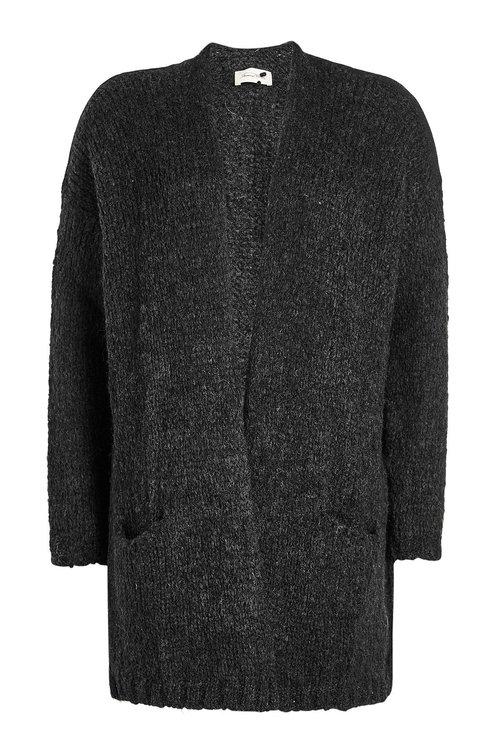 American Vintage Cardigan With Alpaca And Merino Wool In Grey