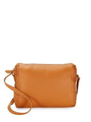Cole Haan Medium Leather Crossbody Bag In Pecan
