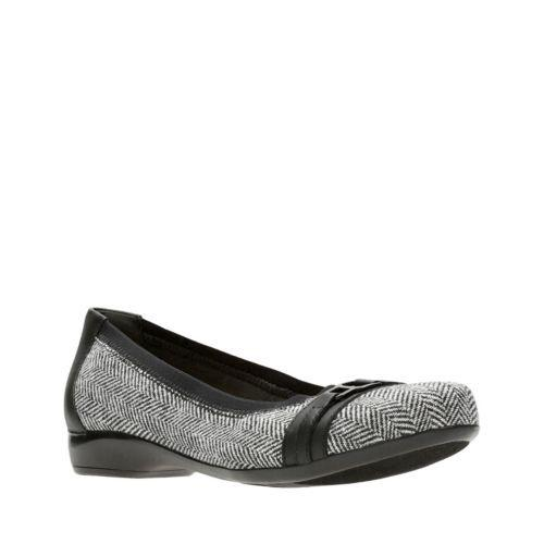Clarks Collection Women's Kinzie Light Flats Women's Shoes In Black