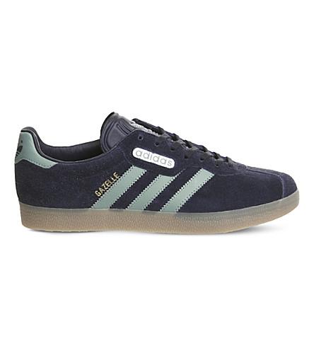 Adidas Originals Gazelle Super Suede Trainers In Navy Steel Gold