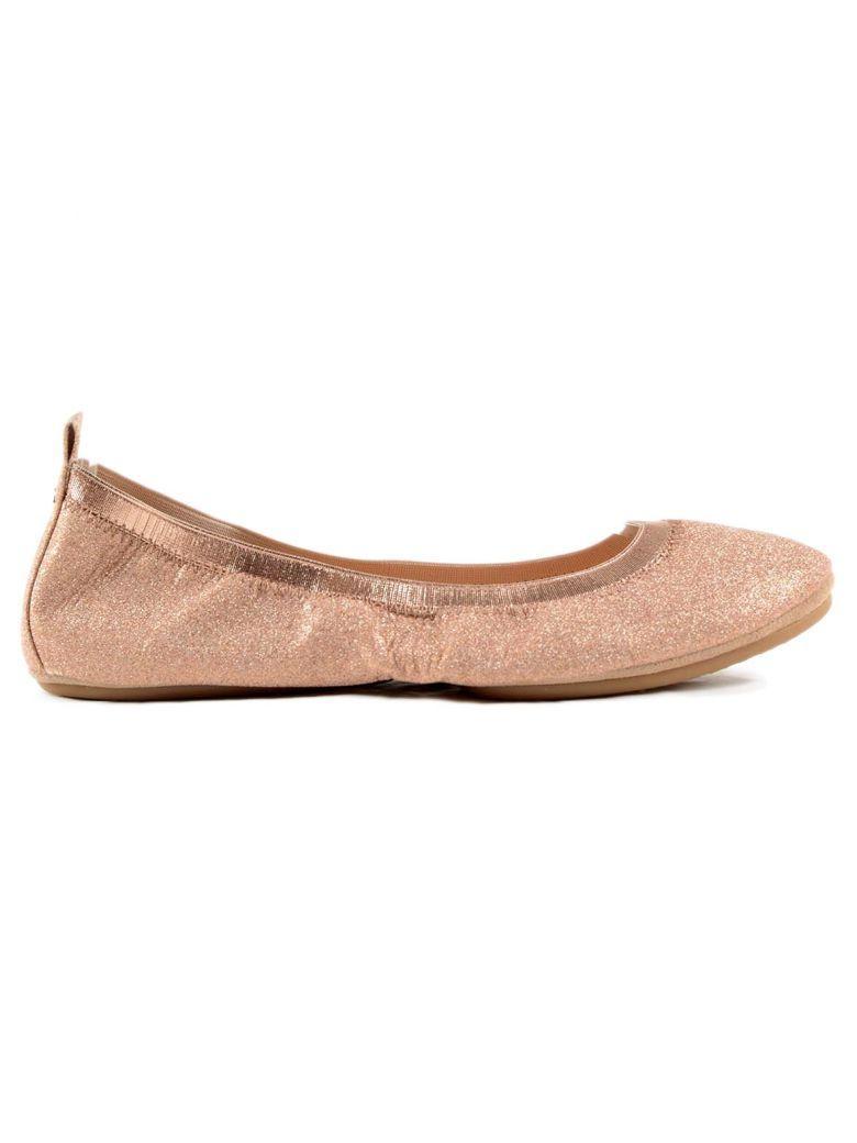 Yosi Samra Samara Glitter Foldable Ballet Flats In Pink & Purple