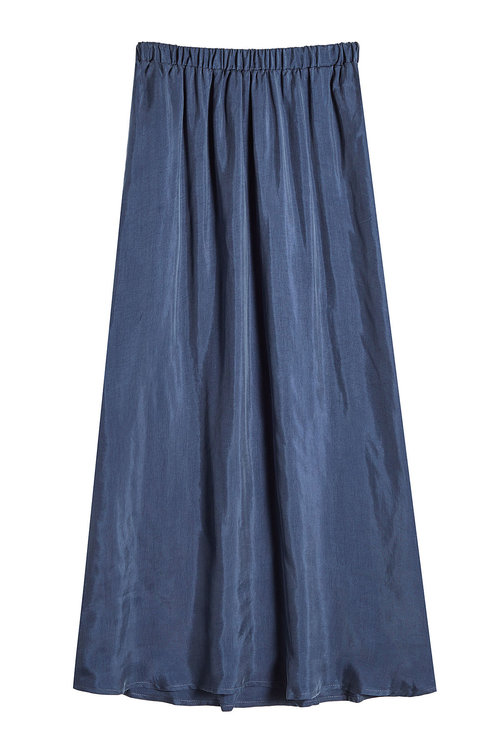 American Vintage Skirt With Elasticated Waist In Blue