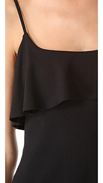 Susana Monaco Flutter String Dress In Black