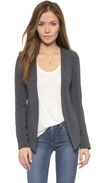 James Jeans The V Blazer In Charcoal Blue