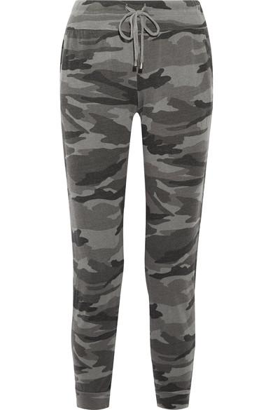 Splendid Camouflage-print Stretch-jersey Track Pants In Multi
