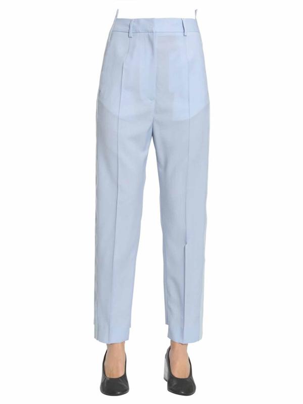 Mm6 Maison Margiela Classic Trousers In Blue