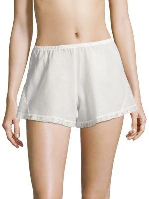 Hanky Panky 40th Anniversary Tap Cotton Shorts In White