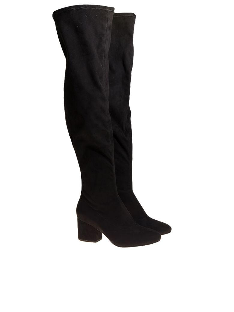 Kendall + Kylie Sophia Faux Suede Boots In Black