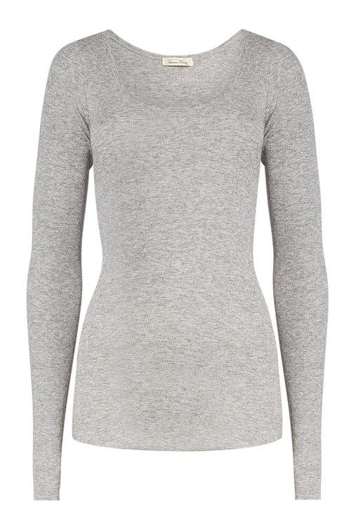 American Vintage Top With Wool In Grey