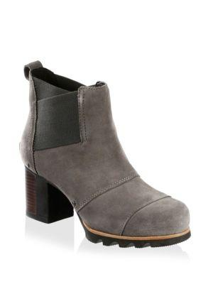 Sorel Addington Water-resistant Chelsea Bootie In Quarry/ Black