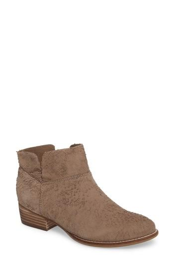 Seychelles Snare Towel Bootie In Taupe Suede