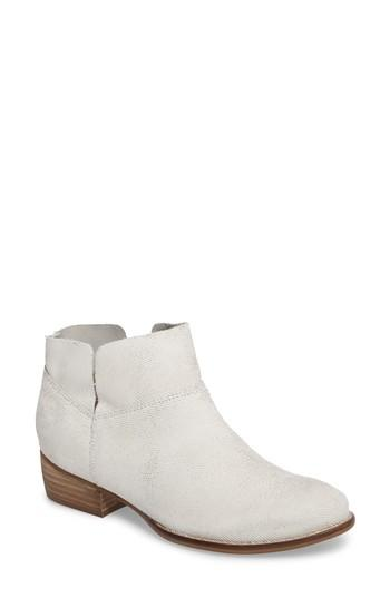 Seychelles Snare Towel Bootie In Off White Suede