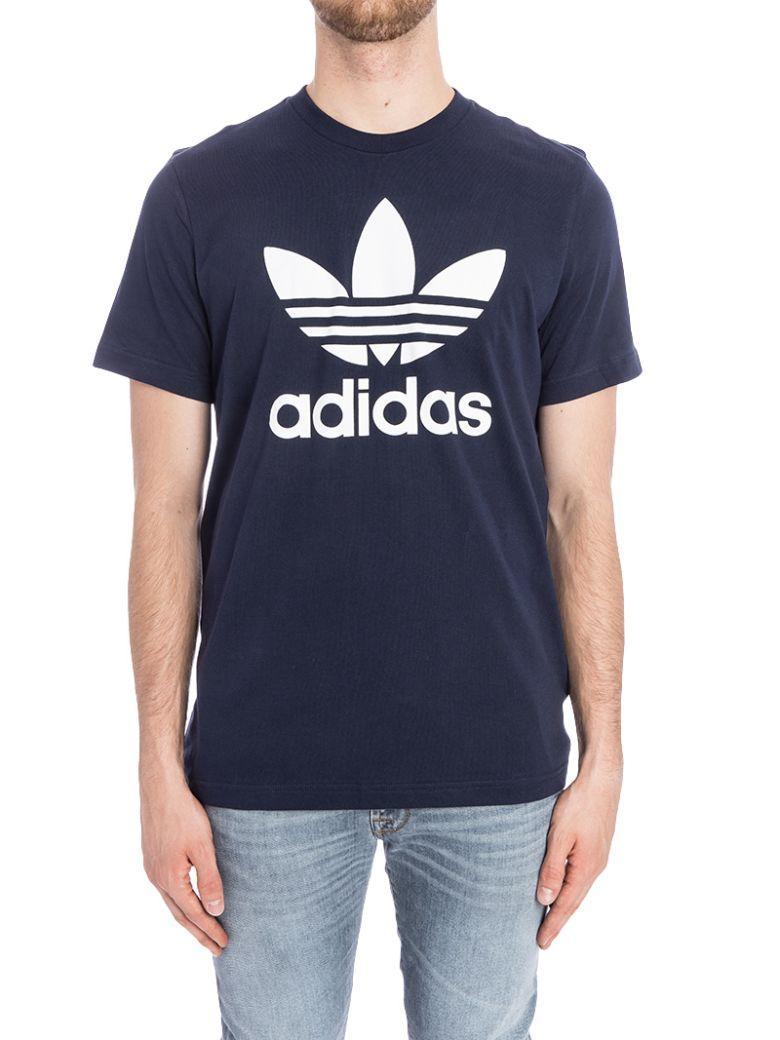 Adidas Originals Trefoil T-shirt In Navy Bq7940 - Navy