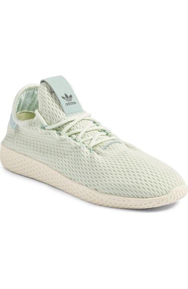 Adidas Originals Adidas Men's Originals Pharrell Williams Tennis Hu Casual Sneakers From Finish Line In Linen Green/ Tactile Green