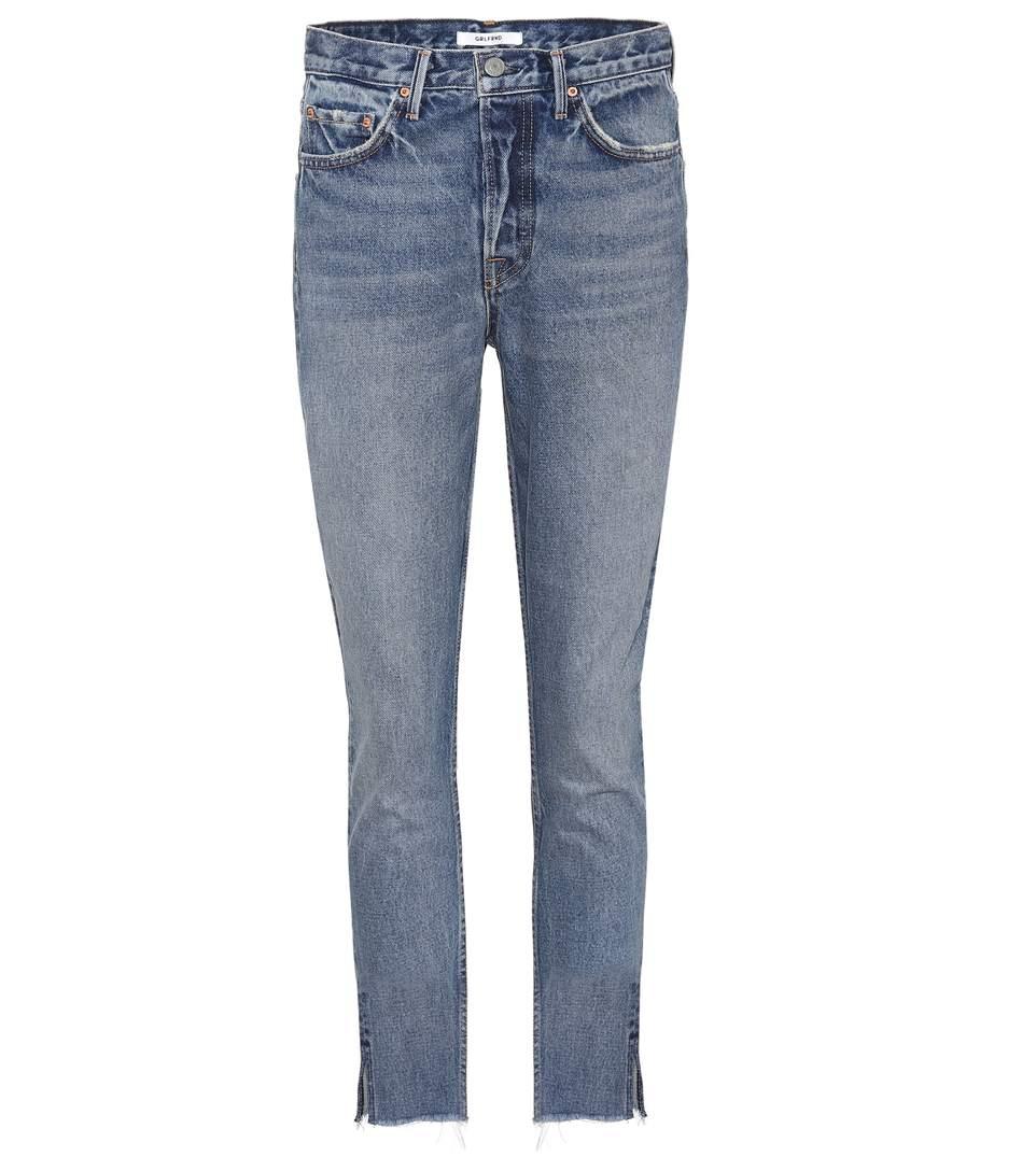 Grlfrnd Karolina Cropped Jeans In Blue