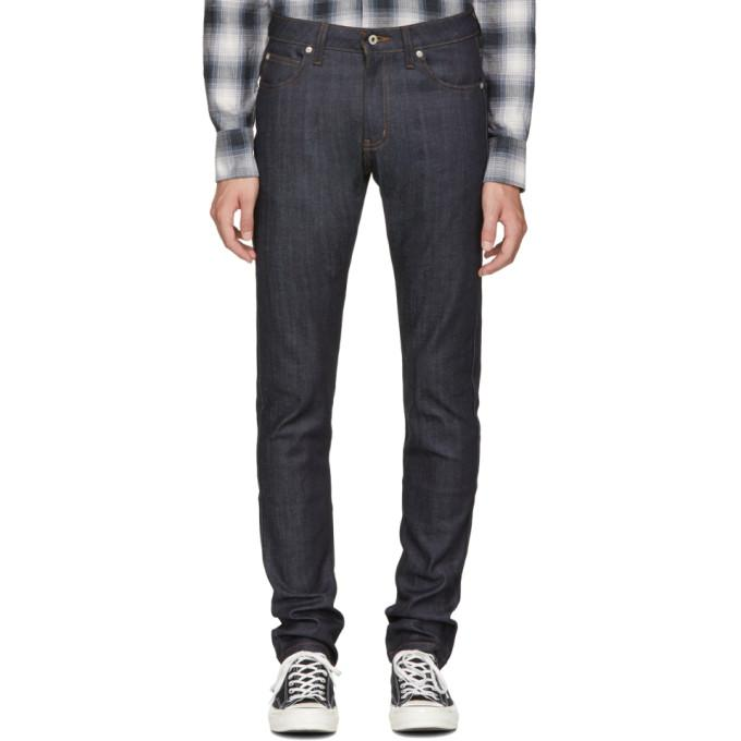 Naked And Famous Blue Cashmere Super Skinny Guy Jeans