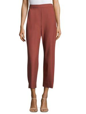 Rebecca Taylor Straight-Leg Suiting Pants In Lipstick