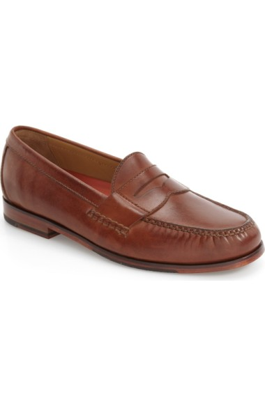 Cole Haan 'pinch Grand' Penny Loafer In Papaya Leather