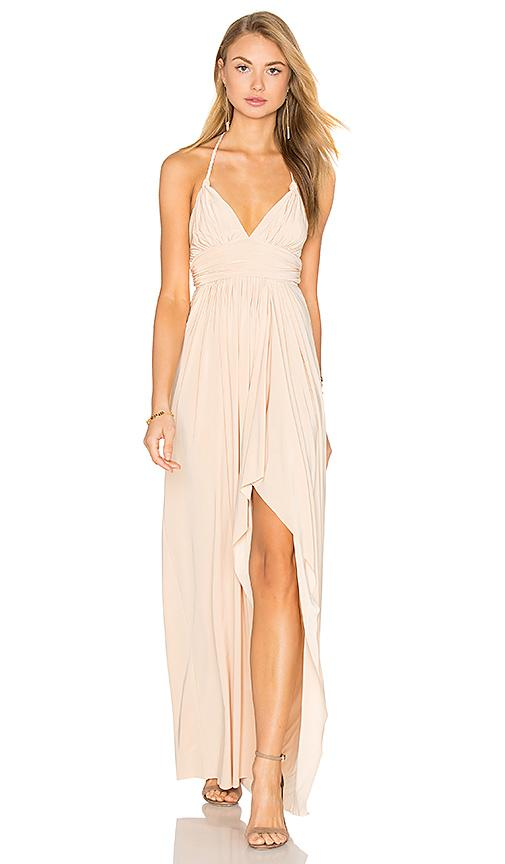 Misa Ever Maxi Dress In Nude