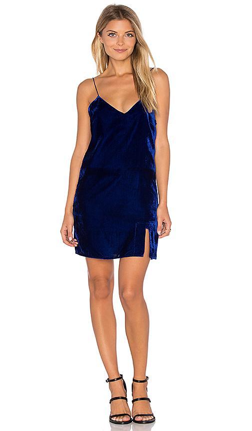Line & Dot Natalie Slip Dress In Cobalt Blue
