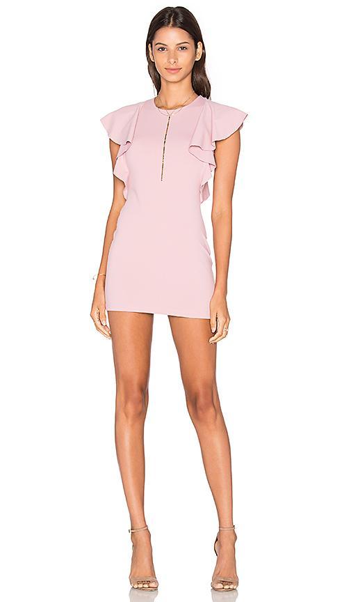 Susana Monaco Ruffle Seam Dress In Pink
