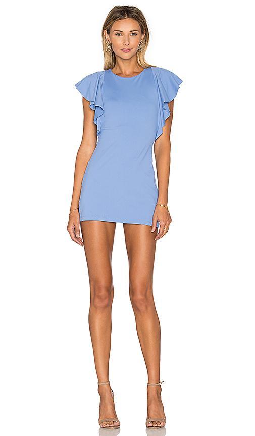 Susana Monaco Ruffle Seam Dress In Blue