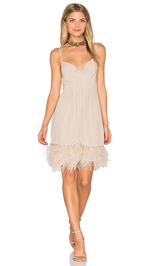 Saylor Mallory Dress In Taupe