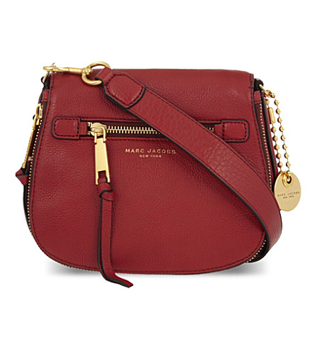 Marc Jacobs  Small Recruit  Pebbled Leather Crossbody Bag In Ruby Rose fe5cb2f8e791b