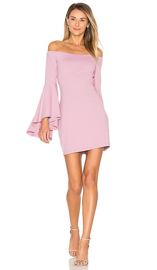 Susana Monaco Off Shoulder Dress In Pink