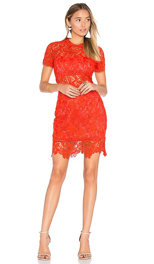 Lovers & Friends Mon Amour Dress In Red