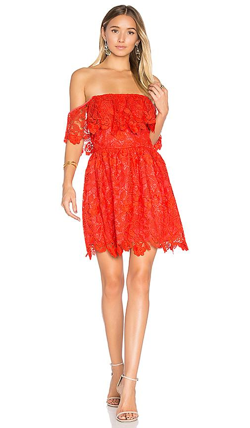 Lovers & Friends Dream Vacay Dress In Red