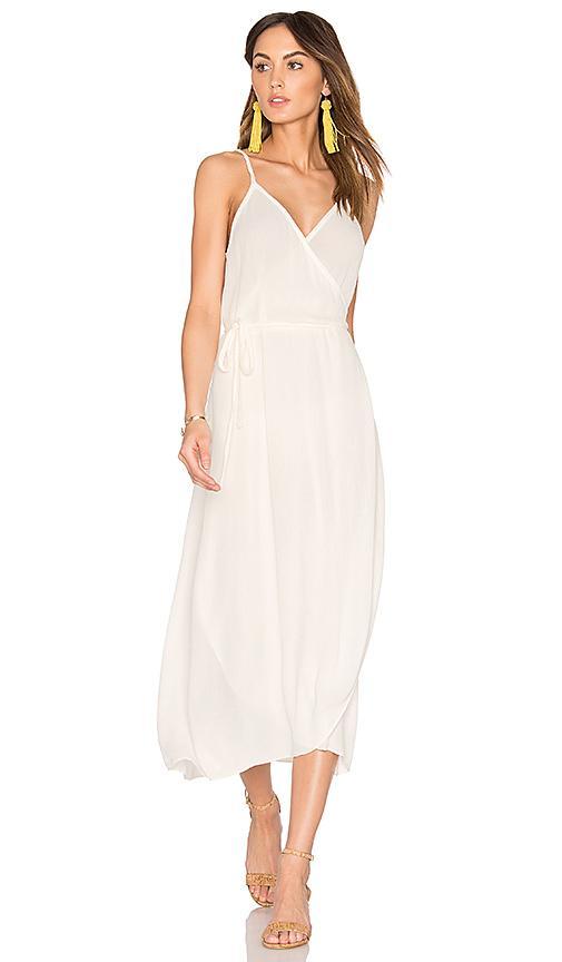 Sam & Lavi Wrap Dress In White