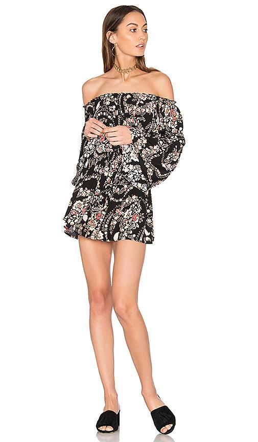 Steele Aurora Dress In Black Florete