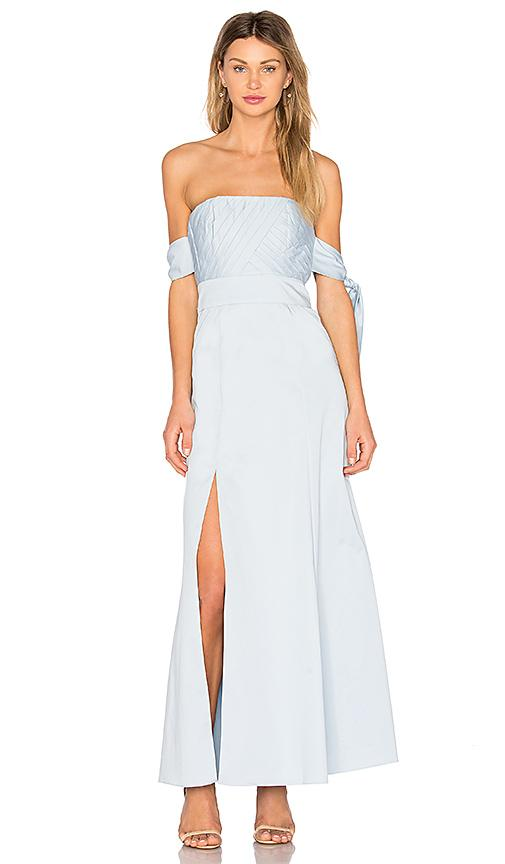 Fame And Partners X Revolve Sandrine Maxi Dress In Pale Blue