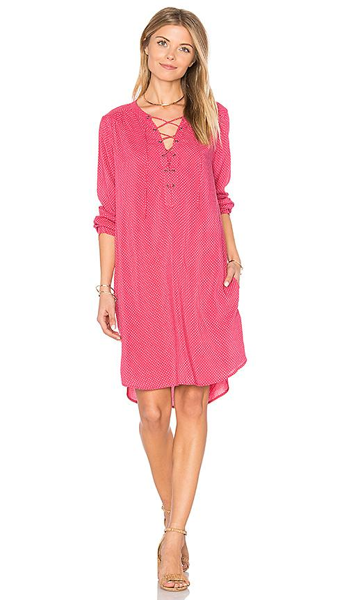 Velvet By Graham & Spencer Zoey Lace Up Dress In Cherry