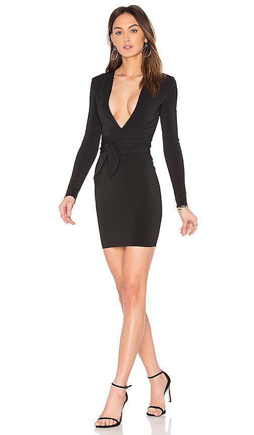 Bec & Bridge India Rosa Long Sleeve Tie Dress In Black