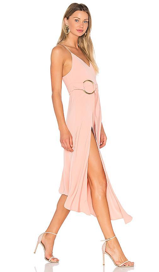 Shona Joy Zelda Dress With Ring In Pink