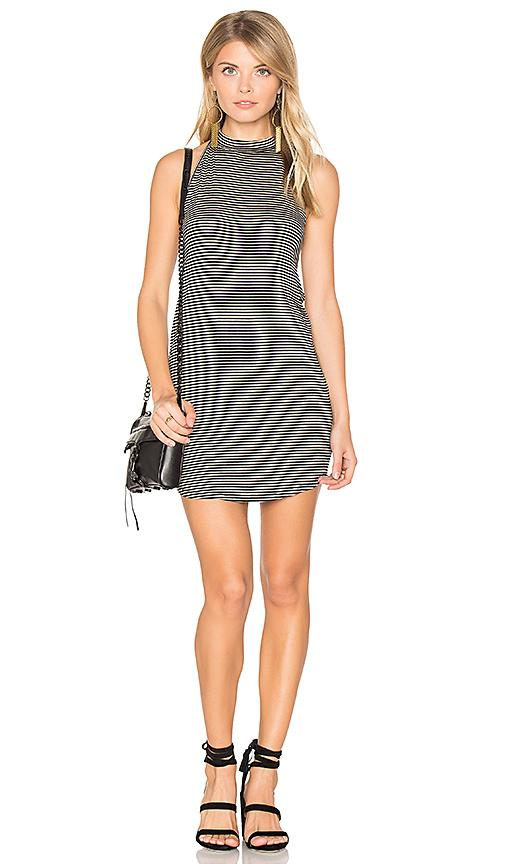 Riller & Fount Ronnie Halter Dress In Black Bean