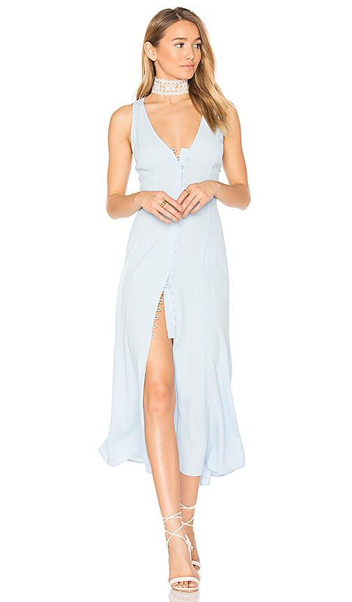 Privacy Please Lomax Dress In Baby Blue.