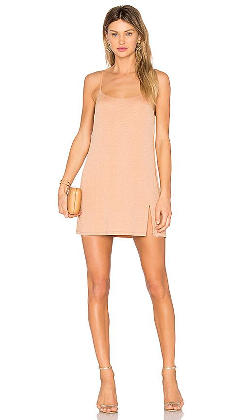 Nbd Jaxon Mini Dress In Caramel & Gold