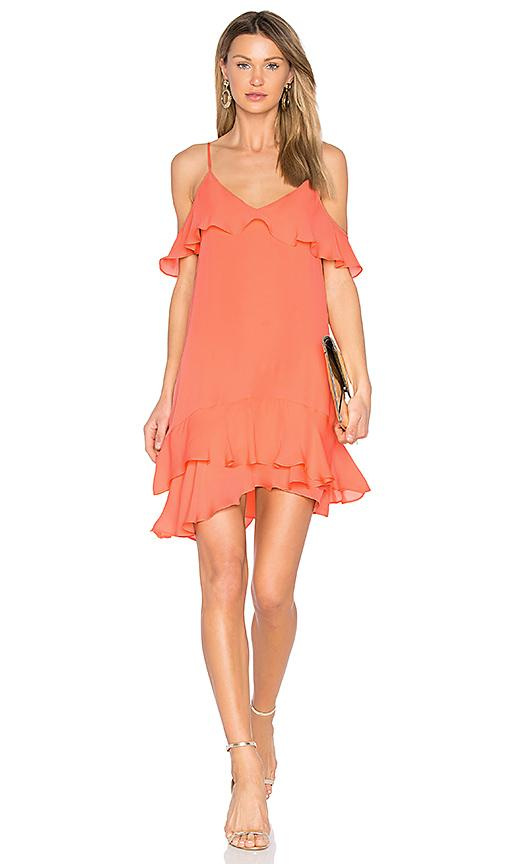Parker Thatcher Dress In Coral