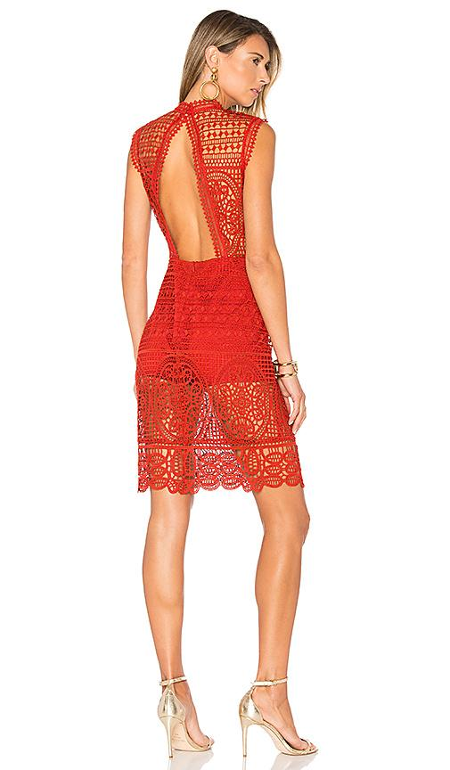 Lovers & Friends Blush Dress In Red