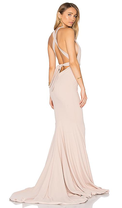 Gemeli Power Las Lasciiv Gown In Blush