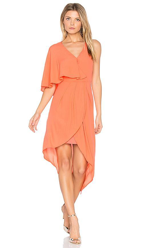 Elliatt Glow Dress In Orange