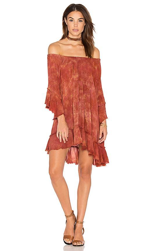 Blue Life Callista Ruffle Dress In Mykonos Sunset
