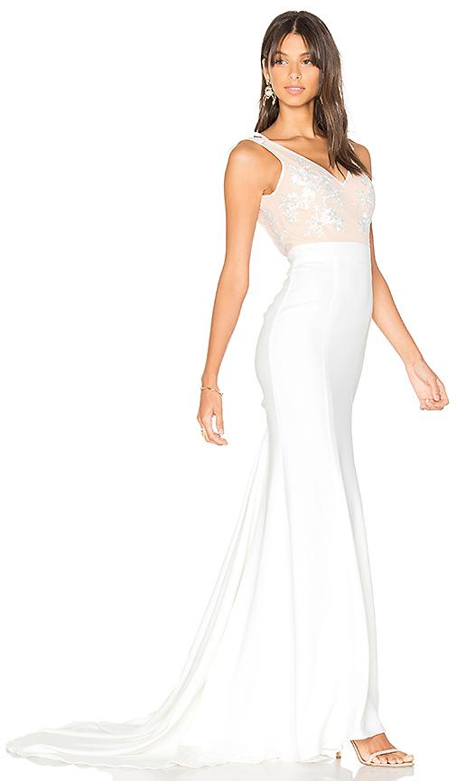 Lovers & Friends X Revolve Gallery Gown In White