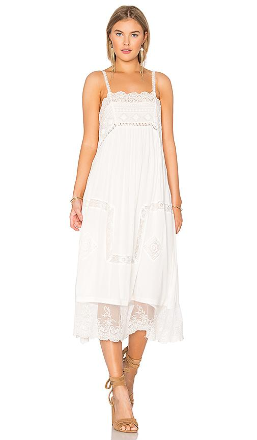 Spell & The Gypsy Collective Peaches Slip Dress In White