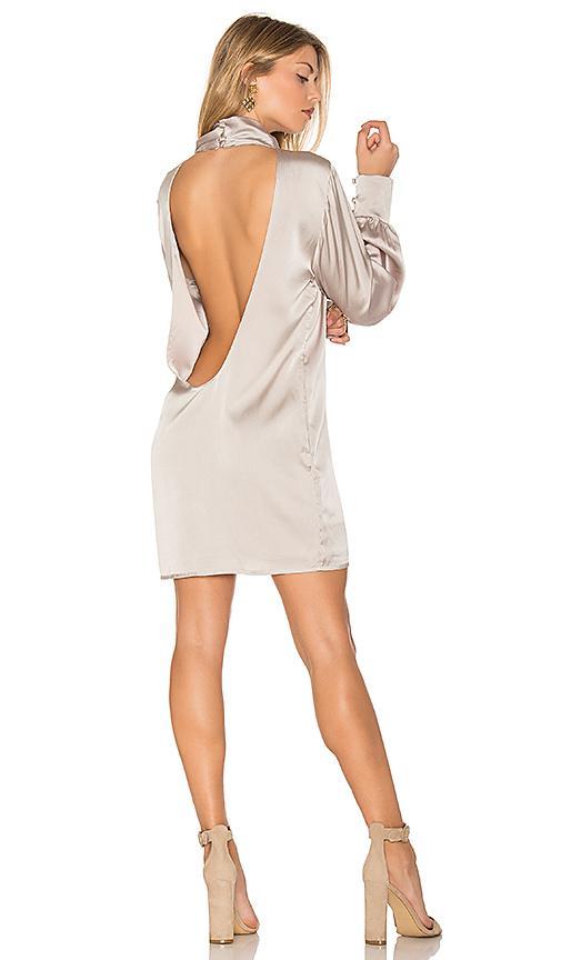 Trois Beverly Silk Dress In Silver